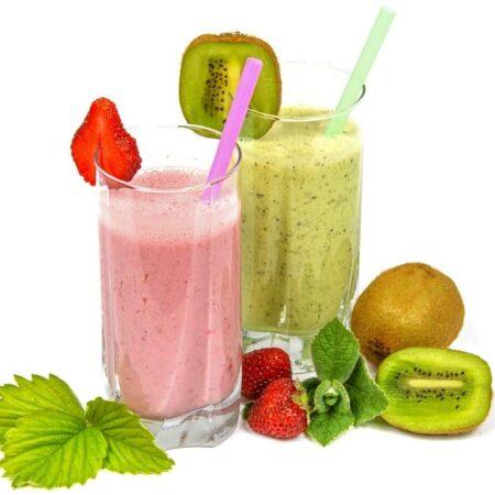 jugos de fruta en leche